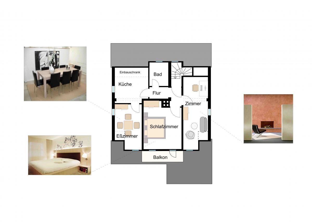 Gestaltung haus frankfurt griesheim andrea foronda san for Innenarchitektin frankfurt